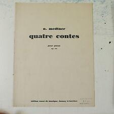 ASSOLO di pianoforte medtner Quatre Contes op.26