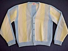 VINTAGE 60s ROB SCOT mens M cardigan sweater WOOL ALPACA