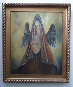 Wonderfull Painting Oil on Canvas Remedios Varo Spanish-Mexican  painter!!