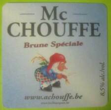 LA CHOUFFE, Mc CHOUFFE beer COASTER, Mat with Elf, BELGIUM, Blonde Speciale