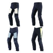 Pantaloni in tessuto impermeabile con zip completa per motociclista