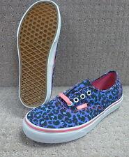 """Vans Para Hombre/Mujer Zapatos """"auténtico"""" -- (Leopardo/Calavera) Azul/True"""