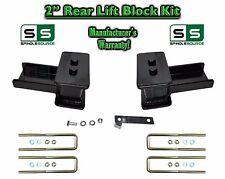 """2004 - 17 Ford F-150 F150 REAR 2"""" inch Tapered Fab Lift Blocks Bumpstop + Ubolts"""