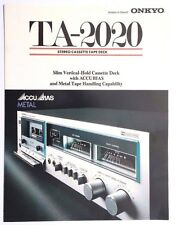 Vtg ONKYO TA-2020 Stereo Cassette Deck (Accubias) BUYERS Guide Brochure