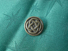 Celtic Quad Knot Button, Handcrafted in Fine Lead-Free Pewter Antique Brassed