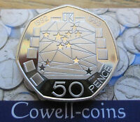 UK Proof Fifty Pence 50p Mint Condition! 1970 -2018 choose your year BIRTHDAY