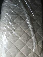 Pottery Barn Belgian Flax Linen Diamond Quilt Twin Ivory NEW