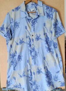 Roxy Mens Large Hawaiian Casual Shirt With Collar