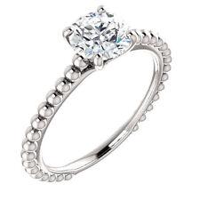 Engagement Ring 14k white Gold Over 2Ct Near White Forever Moissanite Diamond