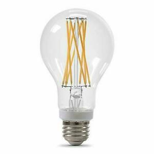 DIMMABLE FILAMENT LED LIGHT 100-Watt Clear Glass Light Lamp Bulb White A21 2PACK