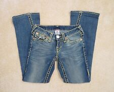 True Religion Womens Joey Super T Bootcut Jeans Size 25 Thick Gold Stitching