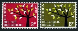 Belgium 582-583 blocks/4,MNH.Michel 1282-1283. EUROPE CEPT-1962.Young Tree.