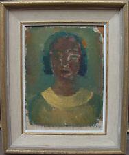 Gunnar Zilo 1885-1958, Junge Frau mit Blüte im Haar, um 1950