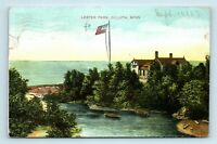 Duluth, MN - c1907 VIEW OF LESTER PARK BOAT HOUSE & FLAG - POSTCARD - M7
