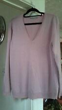 M&S Woman Ladies Dusky Pink V Neck Jumper Size 16