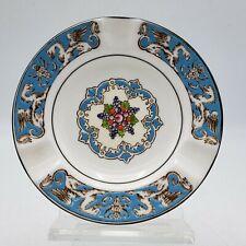 """Vintage Wedgwood Turquoise Florentine Bone China 4 1/2"""" Ashtray W2714 ~ 4 1/4"""""""