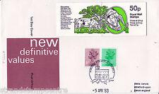 1983 50p FB24 Folded Booklet - Windsor Handstamp
