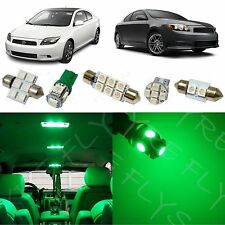 7x Green LED lights interior package kit for 2008-2014 Scion tC ST1G
