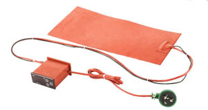Multiple Size Silicone Heating Pad with External Controller on Cable