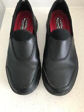 Skechers Black Size 10 Leather Slip Resistant Work Shoe
