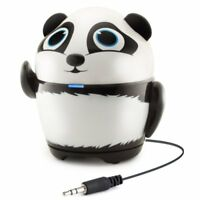 GOgroove Portable Stereo Speaker Music Player Panda Animal Built-in 3.5mm Cord