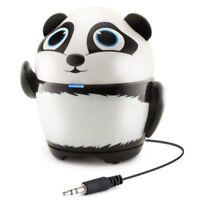 GOgroove Portable Stereo Speaker Music Player Panda Animal Built-in 3.5mm Cord