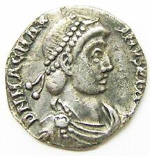Nice Ancient Roman Silver Siliqua of Magnus Maximus Trier Mint c. 383 - 388 A.D.