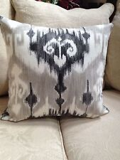 """Marlena Ikat  Gray/Black Graphite/Pillow Cover $25.0.00 ea. 20""""x 20"""" 4Available"""