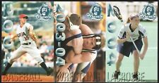 Justin Veralander 2004 Old Dominion 3-Card Unperforated USA Rookie RC Schedule