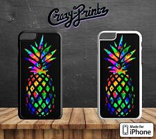 Colourful Pineapple Cool Hard Case Cover for all iPhone Models B86