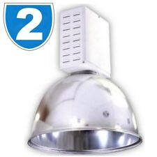 2 x HighBay Commercial Warehouse 250W HQI Metal Halide Ceiling Down Light Cover