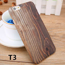 Original color Wood Grain Slim Plastic Case Cover For Apple iPhone 6S 6 Plus