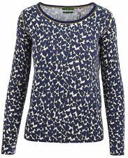 PUBLIC Damen Pullover Women Sweater Größe 38 M Rundhals Merinowolle Angora Blau