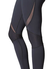 MICHI CHICANE MOTO LEGGINGS ADIDAS STELLA MCCARTNEY MESH SHEER BLACK XS 6-8