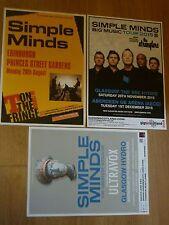 Simple Minds live music memorabilia - Scottish tour show concert gig posters x 3