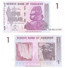 Zimbabwe 1 Dollar 2007 P-65 Prefix 'AB' Banknotes UNC