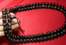 """Antique Jade Praying Necklace Bead Wat Phra Kaew Thai Powerful Amulet 48"""" #R18"""