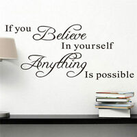Wall Decal Stickers Removable Vinyl Art Quote Bedroom Mural DIY Home Room Decor