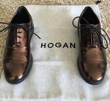 HOGAN LACED SHOES BRONZE NEW SZ 35 MSRP $595