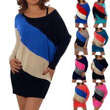 G155 Damen Longshirt Tunika Tshirt Kleid Bluse Minikleid T-Shirt Longeshirt