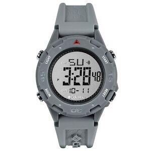 Columbia Self Select Quartz Digital Dial Grey Silicone Strap Watch CSS13-008