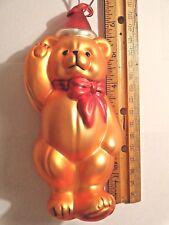 Vintage (1998) Dept. 56 Teddy Bear Ornament - Mercury Glass