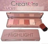 Highlight Palette w/ Brush- Beauty Creations 5 Shades to Highlight + Brush!
