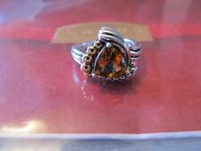 Lagos  Citrine 18k Gold ~Sterling Silver Ring