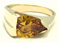 GENUINE 3.54 Cts YELLOW TOPAZ RING 14k YELLOW GOLD* Free Shipping & Appraisal *