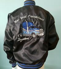 Vintage New York Freightliners bomber-style truck Embroidered Patch Jacket