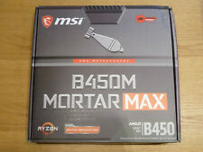 MSI B450M Mortar Max Micro-ATX µATX Mainboard AMD AM4 Ryzen 3000 + 5000