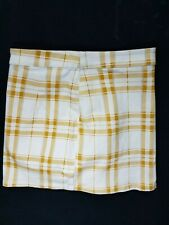 Forever 21 XS Yellow White Stretch Cotton Women's Plaid Mini Skirt