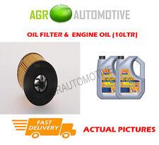 PETROL OIL FILTER + LL 5W30 ENGINE OIL FOR SAAB 9-3 SPORT 2.0 150 BHP 2002-12