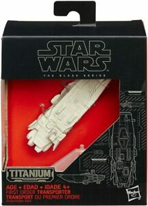 Star Wars The Black Series Titanium #14 First Order Transporter. Die Cast Model.